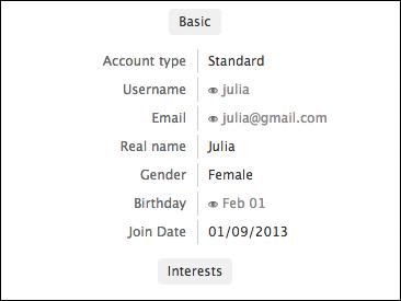 Profile questions
